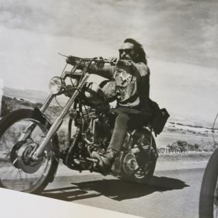 Biker Fan Artikel Spiegelrahmen Deko Motorrad Easy Rider 1969 Old Man Wandbild - Vorschau 3