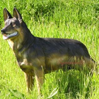Schäferhund Dekofigur lebensgroß Figur Gartenfigur