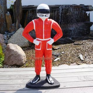Riesen F1 Rennfahrer Wagen Figur Statue Kartbahn Strecke Restaurant