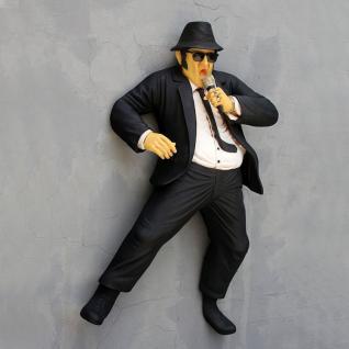 Lebensgroße Blues Brothers Jack Figur Wandfigur Jake