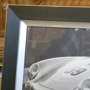 Wandbild Fotodruck Porsche 550 Schwarz weiß 1950er Oldtimer Racing - Vorschau 2