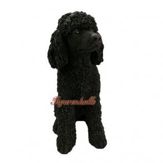 Pudel schwarz Riesenpudel Poodle Figur Dekofigur Königspudel Statue
