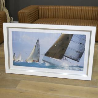 Wandbild Maritim Segelyacht Segelschiff Farbdruck Alurahmen Deko