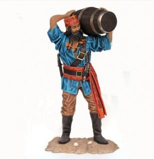 Pirat Piraten Freibeuter Seeräuber Deko Figur Statue Skulptur lebensgroß Dekoration Pirat