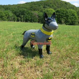 Figur Bullterrier Batman Staue American Bully Figur Deko Art Design neu Modern