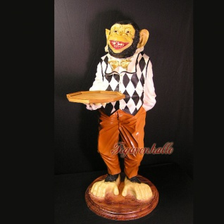 Affe Dekofigur als Butler-Figur Telefontisch