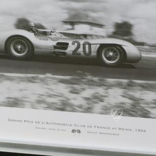 Wandbild Fotodruck Mercedes Benz Schwarz weiß 1955 Oldtimer Racing - Vorschau 2