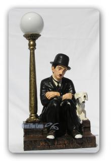 Charles Chaplin Lampe Dekofigur Figur Statue