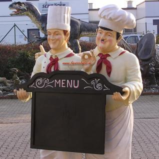 Dick & Doof Koch Lebensgroß Figur Werbeaufsteller