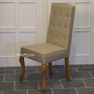 Sessel als Esszimmerstuhl Stuhl Klassisch mit Dackelbeinen und Griff
