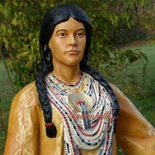 Indianer Squaw als lebensgoße Figur Dekoration