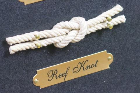 Maritim Knotentafel Dekoration Wandbild Deko Schifferknoten Tafel Seemannsknoten - Vorschau 2