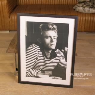 Wandbild James Dean in schwarzem Rahmen gestreifter Pullover