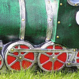 Maulwurf mit Lokomotive / Eisenbahn Gartenfigur - Vorschau 3