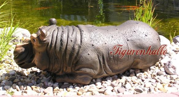 Nilpferd Flusspferd Figur Statue Aufstellfigur - Vorschau 4