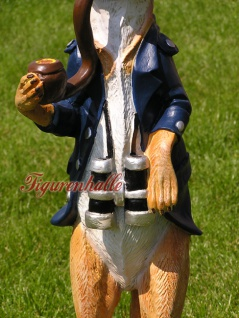 Erdmännchen Figur Statue Maritim Kapitän Seefahrer - Vorschau 3