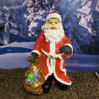 Weihnachtsmann Weihnachts Außendekoration Statue Deko Figur