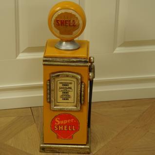 Shell Zapfsäule Tankstelle Aufbewahrung CD Schrank