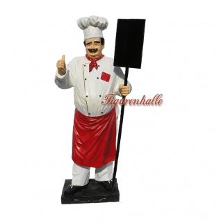 Koch Figur Werbefigur Imbiß Werbeaufsteller