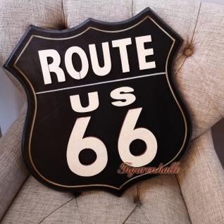 Route 66 Motorrad Wandschild Holz Dekoration Deko