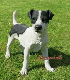 Jack Russell Terrier Hundefigur Hund Haustier Figur Skulptur Dekoration Tier neu