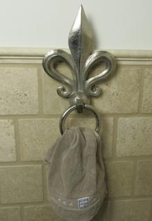 Handtuchhalter Handtuchring mit Lilie  35x19x4cm