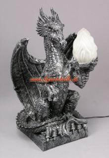 Drachenlampe Drachenfigur Figur Statue Deko Gothic