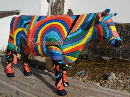 Riesen Kuh Kunstbemahlung Bunte lebensgroß Künstler - Vorschau 3