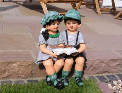 Junge und Mädchen als Figuren zur Garten Dekoration - Vorschau 4