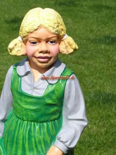 Süßes Mädchen mit Zöpfen als Gartenfigur Garten Deko