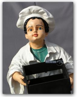 Bäcker Figur als Werbeaufsteller mit Menütafel - Vorschau 2