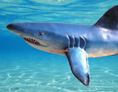 Hai Lebensgroß Dekofigur Figur Statue Haifisch - Vorschau 2