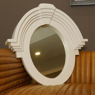 Wandspiegel Fensterspiegel weiß oval Landhausstil Home Interiors
