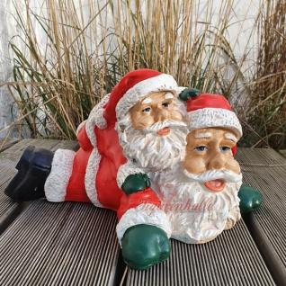 Weihnachtsmann liegend Weihnachts Außendekoration Figur