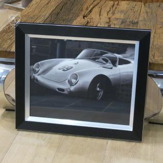 Wandbild Fotodruck Porsche 550 Schwarz weiß 1950er Oldtimer Racing - Vorschau 1