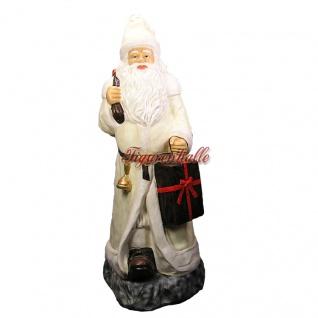 Weihnachtsmann Werbefigur in weiß Figur Weihnacht Deko Dekoration für den Handel
