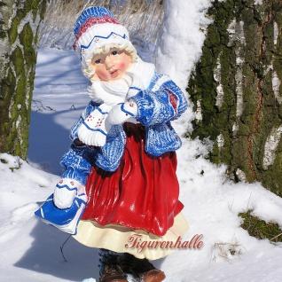 Mädchen Winterdekoration Advents Deko Figur Deko
