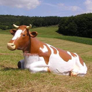Kuh Lebensgroß Bauernhof Dekofigur