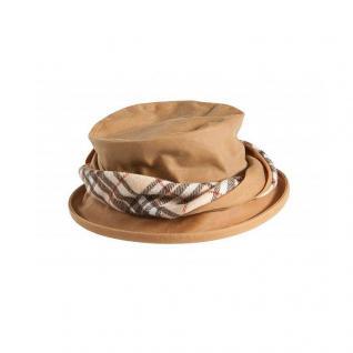 Damenhut Twisted Emma beige aus gewachster Baumwolle