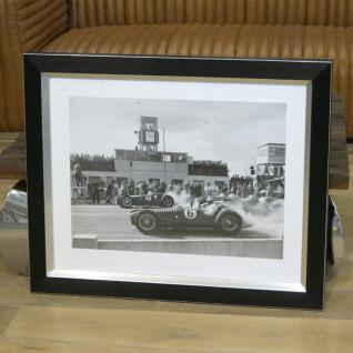 Wandbild Fotodruck Schwarz weiß Oldtimer Racing Autorennen Goodwood Cup