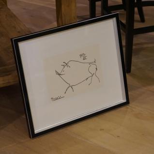 Kunstdruck das Schwein von Pablo Picasso Wandbild Deko