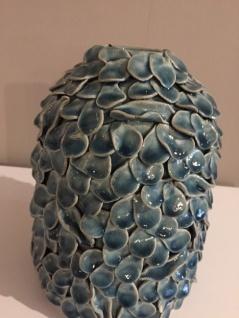 Vase blau blaeulich Bletter Optik Daenischen Interior - Vorschau 2
