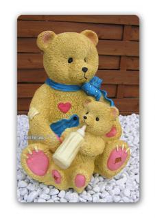 Teddy mit kind als Figur Kuschelbär Dekoration