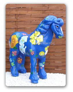 Pferd Kunstbemahlung Blumen Figur Werbefigur