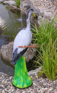 Fischreiher Gartenfigur für Gartenteich Figur Reiherschreck - Vorschau 2