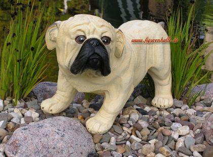 Mops Hundefigur Tierfigur Figur Statue - Vorschau 2