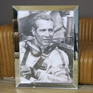 Paul Newmann Wandbild Kunstdruck mit Rahmen Deko