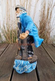Maritime Figur Dekofigur Seemann mit Steuerrad Statue Skulptur Deko - Vorschau 4