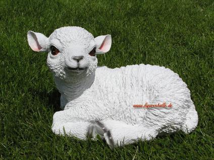 Süßes Lämmchen Schaf als Dekofigur für Haus und Garten - Vorschau 3