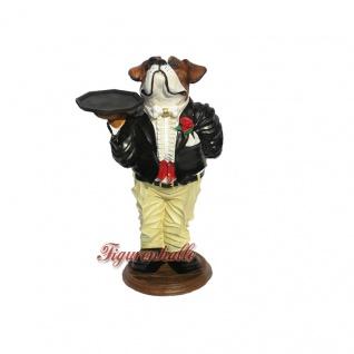 Englische Bulldogge Als Butler Austellfigur Figur